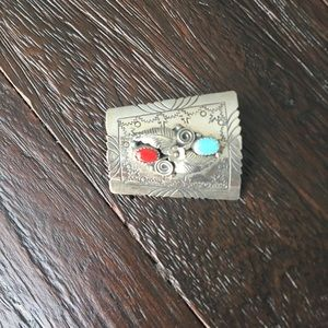 Sterling Silver Turquoise Hair Clip Accessory